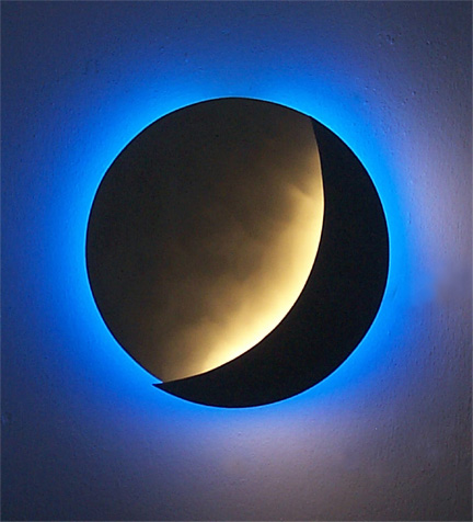moonDisc sconce, exhibited in this New Orleans gallery of indoor & outdoor wall sconces and modern contemporary lighting fixtures for home interior decoration